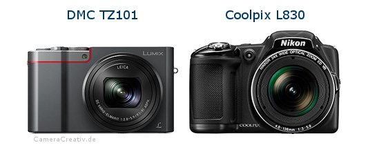 Panasonic dmc tz 101 vs Nikon coolpix l830