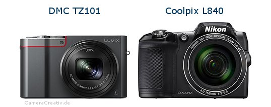 Panasonic dmc tz 101 vs Nikon coolpix l840
