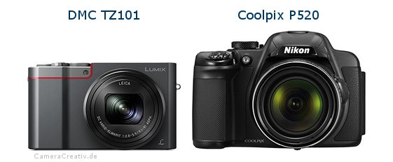 Panasonic dmc tz 101 vs Nikon coolpix p520