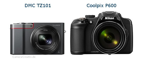 Panasonic dmc tz 101 vs Nikon coolpix p600
