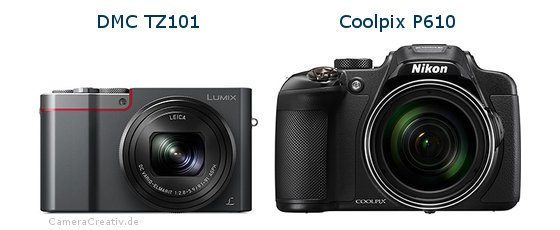 Panasonic dmc tz 101 vs Nikon coolpix p610