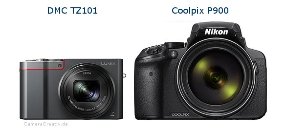 Panasonic dmc tz 101 vs Nikon coolpix p900