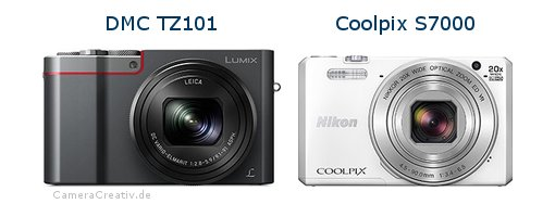 Panasonic dmc tz 101 vs Nikon coolpix s7000