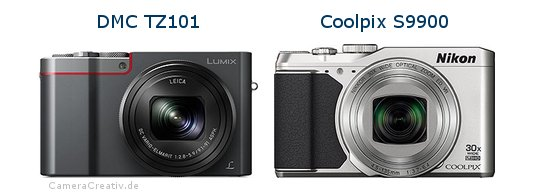 Panasonic dmc tz 101 vs Nikon coolpix s9900