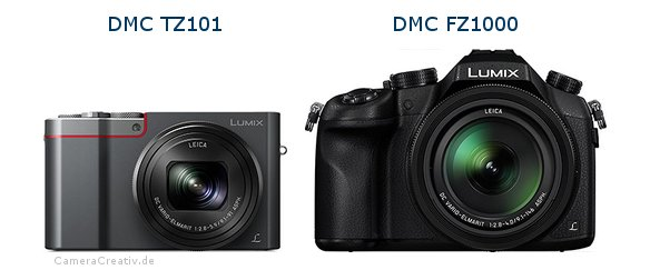 Panasonic dmc tz 101 vs Panasonic dmc fz 1000