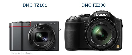 Panasonic dmc tz 101 vs Panasonic dmc fz 200