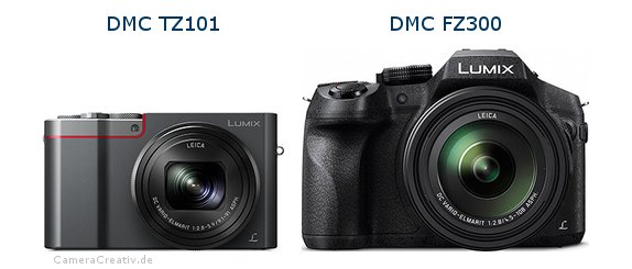 Panasonic dmc tz 101 vs Panasonic dmc fz 300
