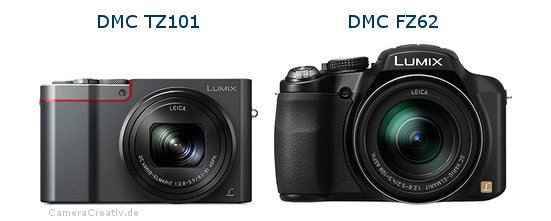 Panasonic dmc tz 101 vs Panasonic dmc fz 62