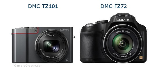 Panasonic dmc tz 101 vs Panasonic dmc fz 72