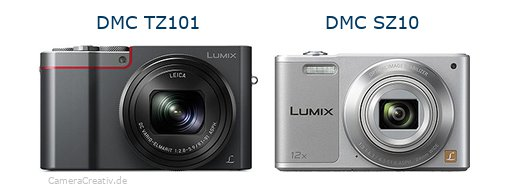 Panasonic dmc tz 101 vs Panasonic dmc sz 10