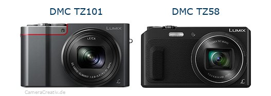 Panasonic dmc tz 101 vs Panasonic dmc tz 58