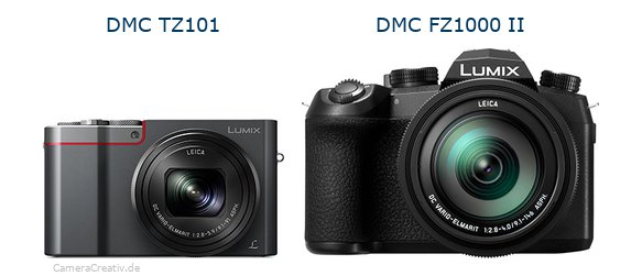 Panasonic dmc tz 101 vs Panasonic lumix fz1000 ii