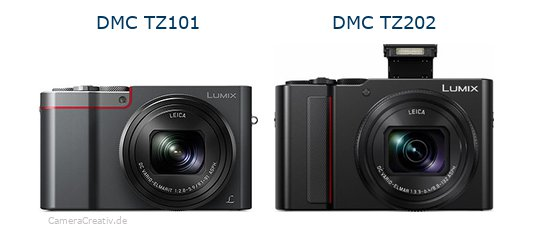 Panasonic dmc tz 101 vs Panasonic lumix tz 202