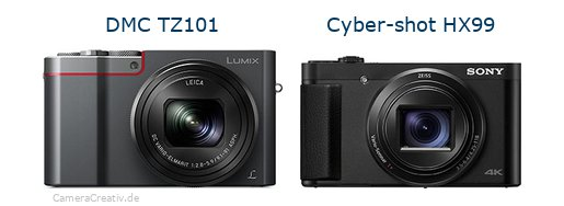 Panasonic dmc tz 101 vs Sony cyber shot hx 99