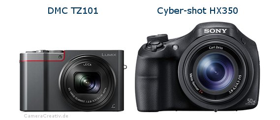 Panasonic dmc tz 101 vs Sony cyber shot hx350