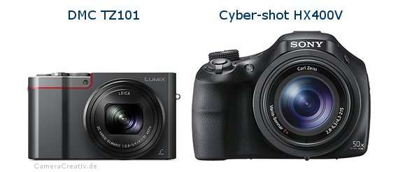 Panasonic dmc tz 101 vs Sony cyber shot hx400v