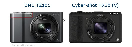 Panasonic dmc tz 101 vs Sony cyber shot hx50