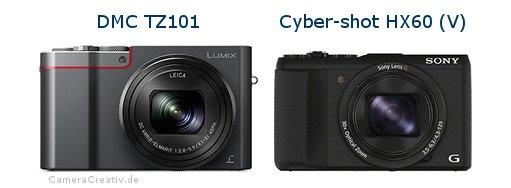 Panasonic dmc tz 101 vs Sony cyber shot hx60