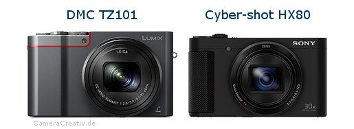 Panasonic dmc tz 101 vs Sony cyber shot hx80