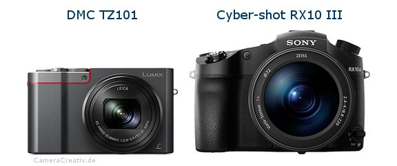 Panasonic dmc tz 101 vs Sony cyber shot rx10 iii