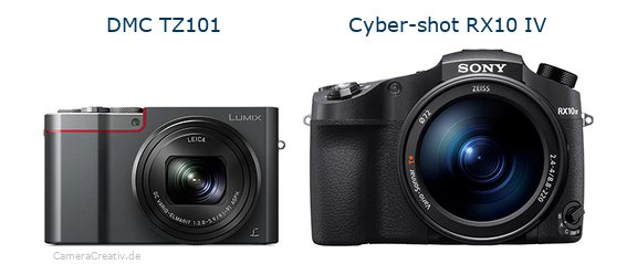Panasonic dmc tz 101 vs Sony cyber shot rx10 iv