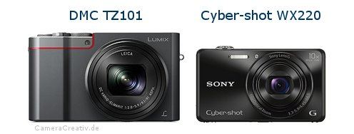 Panasonic dmc tz 101 vs Sony cyber shot wx220