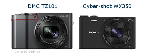Panasonic dmc tz 101 vs Sony cyber shot wx350