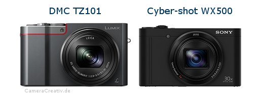 Panasonic dmc tz 101 vs Sony cyber shot wx500