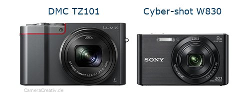 Panasonic dmc tz 101 vs Sony w830