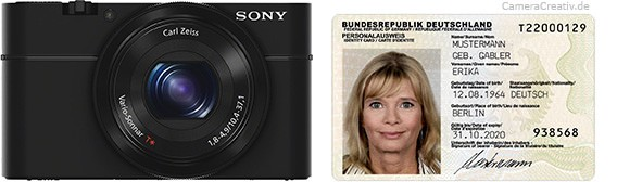 Sony Cyber-shot RX100 size comparison