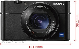 Sony Cyber-shot RX100 V Dimensions (Width / Height)