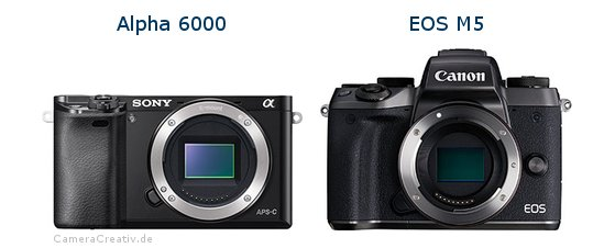 Sony alpha 6000 vs Canon eos m5