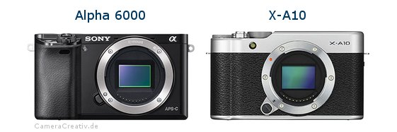Sony alpha 6000 vs Fujifilm x a10