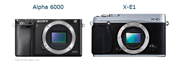Sony alpha 6000 vs Fujifilm x e1