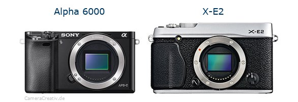 Sony alpha 6000 vs Fujifilm x e2