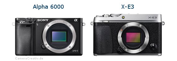 Sony alpha 6000 vs Fujifilm x e3