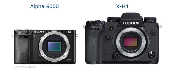 Sony alpha 6000 vs Fujifilm x h1
