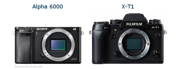 Sony alpha 6000 vs Fujifilm x t1