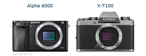 Sony alpha 6000 vs Fujifilm x t100
