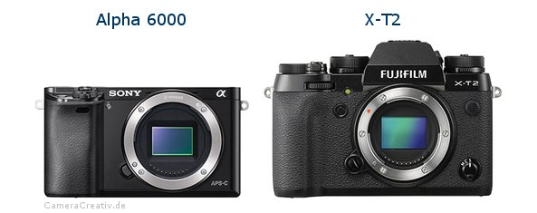 Sony alpha 6000 vs Fujifilm x t2