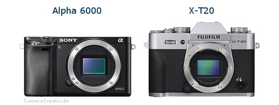 Sony alpha 6000 vs Fujifilm x t20