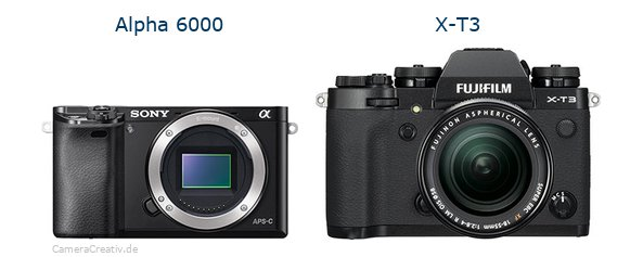 Sony alpha 6000 vs Fujifilm x t3