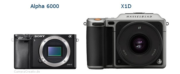 Sony alpha 6000 vs Hasselblad x1d