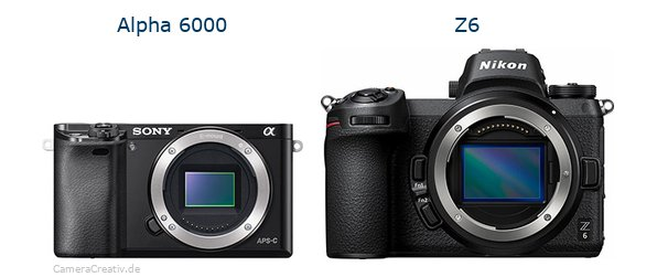 Sony alpha 6000 vs Nikon z6