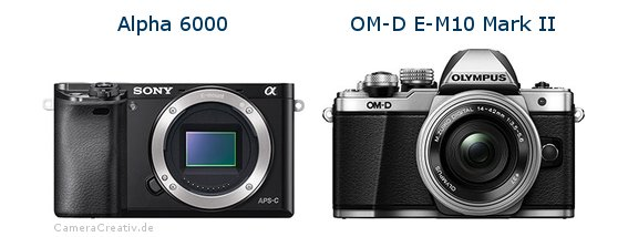 Sony alpha 6000 vs Olympus om d e m10 mark ii