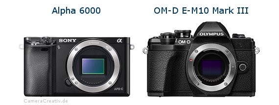Sony alpha 6000 vs Olympus om d e m10 mark iii