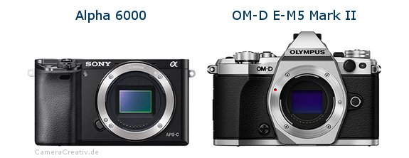 Sony alpha 6000 vs Olympus om d e m5 mark ii