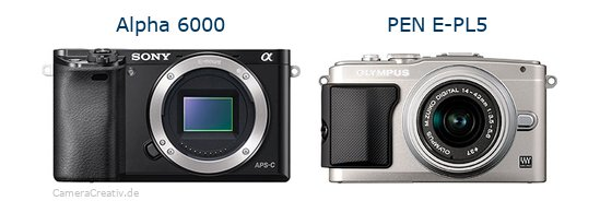 Sony alpha 6000 vs Olympus pen e pl5