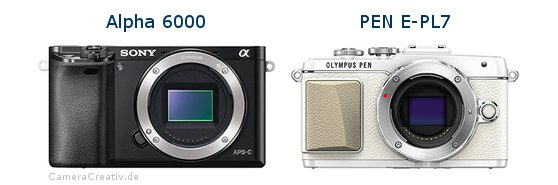Sony alpha 6000 vs Olympus pen e pl7