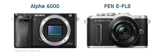 Sony alpha 6000 vs Olympus pen e pl8